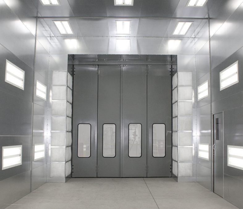A GFS Crossdraft Pressurized Paint Booth
