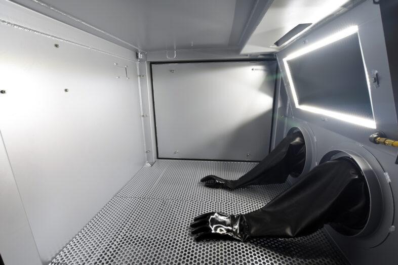 Titan Abrasive Blast Cabinet LED window light